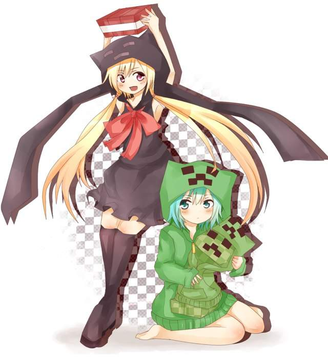 Ender girl and creeper girl anime amino - Creeper anime girl ...