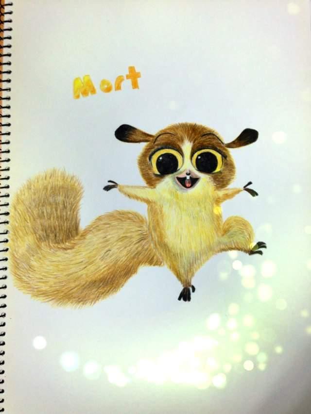 Mort! A cute lemur from the movie ' Madagascar' | Art Amino