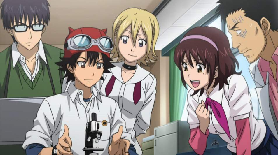 Image result for anime microscope