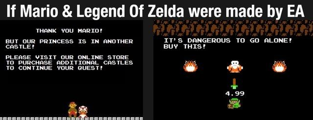 If Mario & Zelda were made by EA | Video Games Amino