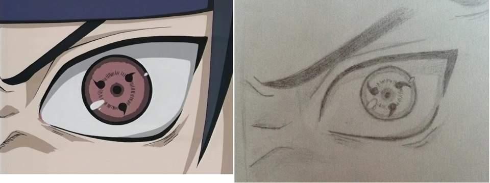 Sasuke Sharingan Drawing Anime Amino