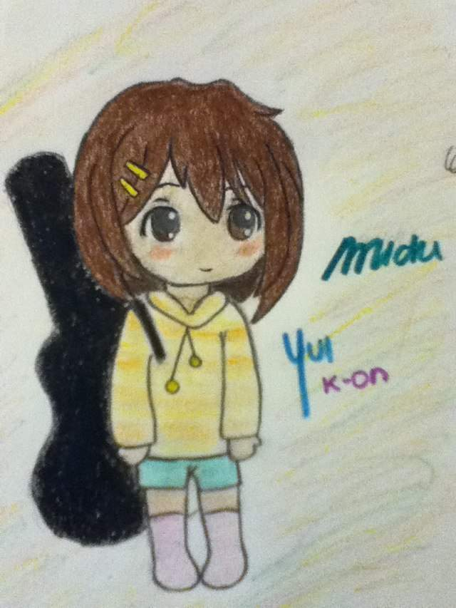 Color Chibi Yui Drawing
