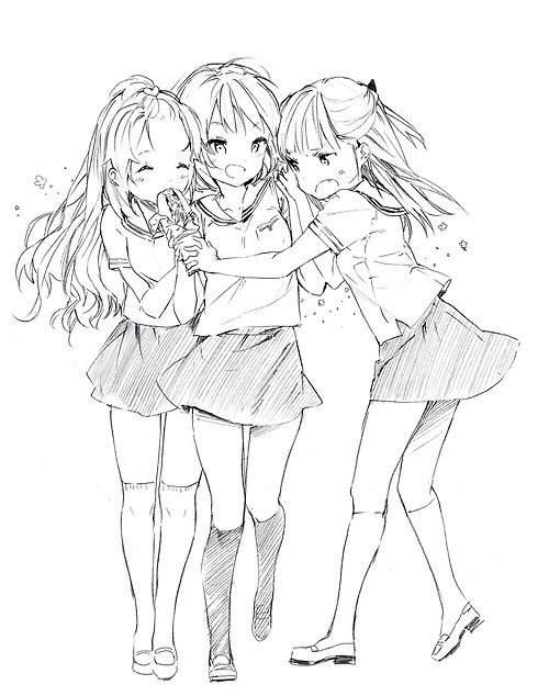 такое, картинки трех подруг карандашом человека отличительным