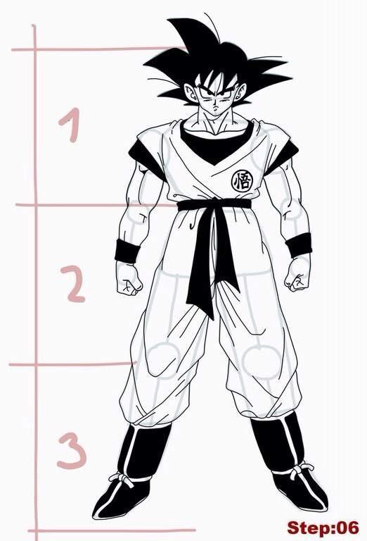 How To Draw Goku From Dragon Ball Z Full Body Art Amino