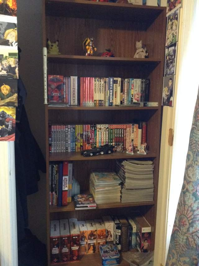 An This Is My Bookshelf Of Everything That Makes Me A Otaku And Nerd The Top Shelf Where All Figures Go Two Anime